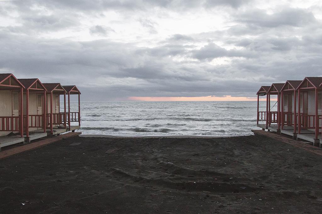 ostia; stabilimento balneare; luigi ghirri; kursaal; paesaggio; inverno; www.sofiapodesta.com ; roma ; spiaggia
